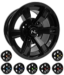No Limit Intimidator 14 Inch Wheels w/ Optional Spoke Inserts