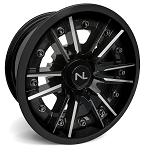 No Limit Storm 14 Inch 2 Piece Glossy Black Wheels