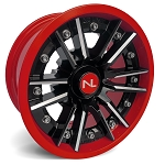 No Limit Storm 14 Inch 2 Piece Dark Red Wheels (matches Honda Red)
