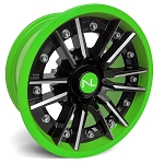 No Limit Storm 14 Inch 2 Piece Lime Green Wheels