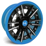 No Limit Storm 14 Inch 2 Piece Octane Blue Wheels (matches Can Am)