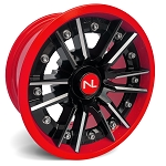 No Limit Storm 14 Inch 2 Piece Red Wheels (matches Polaris Indy Red, Can Am Viper Red)