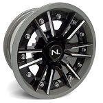 No Limit Storm 14 Inch 2 Piece Silver Wheels