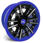 No Limit Storm 14 Inch 2 Piece Blue Wheels (matches Voodoo Blue & Velocity Blue)
