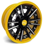 No Limit Storm 14 Inch 2 Piece Yellow Wheels (Matches Can Am Yellow)