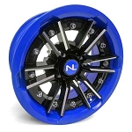 No Limit Storm 15 Inch 2 Piece Blue Wheels (matches Voodoo Blue & Velocity Blue)
