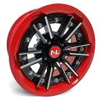 No Limit Storm 15 Inch 2 Piece Dark Red Wheels (matches Honda Red)