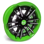 No Limit Storm 15 Inch 2 Piece Lime Green Wheels