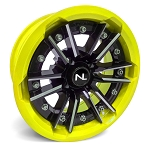 No Limit Storm 15 Inch 2 Piece Lime Squeeze Wheels