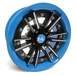 No Limit Storm 15 Inch 2 Piece Octane Blue Wheels (matches Can Am)