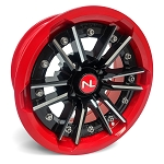 No Limit Storm 15 Inch 2 Piece Red Wheels (matches Polaris Indy Red, Can Am Viper Red)