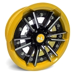 No Limit Storm 15 Inch 2 Piece Yellow Wheels (Matches Can Am Yellow)
