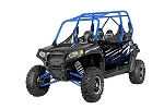 Pro Armor 2014 Stealth Black (Blue Cage) Extreme Door Graphic Kit for Polaris RZR 4