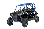 Pro Armor 2014 Stealth Black (Blue Cage) Door Graphic Kit for Polaris RZR 4