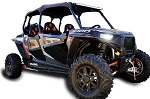 Pro Armor Polaris RZR XP 4 1000 Black Lower Door Inserts