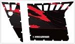 2011 Polaris RZR S LE Carbon Fiber Red Graphic Kit