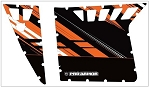 Pro Armor 2011 Polaris RZR S LE Orange Madness Graphic Kit