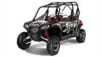 Pro Armor 2012 Polaris RZR 4 LE Robby Gordon Black Graphic Kit