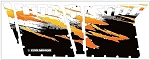 Pro Armor 2012 Polaris RZR 4 Robby Gordon Orange/White Graphic Kit