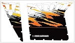 Pro Armor 2012 Polaris RZR S Orange and White Graphic Kit