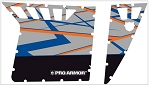 2013 Polaris RZR S Door Graphics Kit-Blue Fire w/ Orange