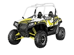 Pro Armor 2014 White Lightning (White Cage) Extreme Door Graphic Kit for Polaris RZR S