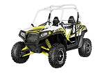 Pro Armor 2014 White Lightning (White Cage) Door Graphic Kit for Polaris RZR S