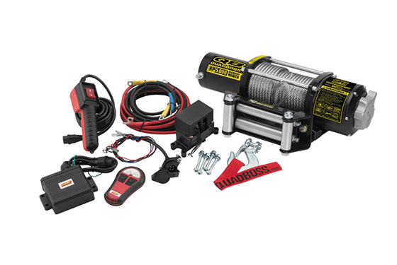 Quadboss 5 000 Lb  Winch With Wire Cable