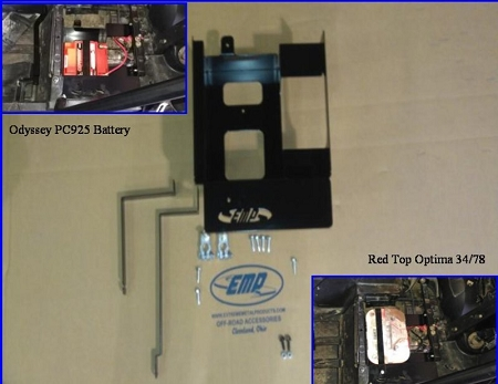 Extreme Metal Products Battery Tray For Rzr 2011