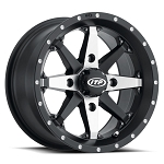 ITP Cyclone Wheels w/ Optional Colored Inserts, 15 inch Matte Black Machined