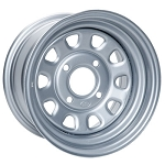 ITP Delta Steel ATV Wheels - 12 Inch Silver
