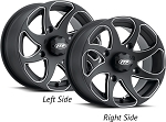 ITP Twister Directional ATV / UTV Wheels - 14 Inch Matte Black Milled