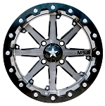 MSA M21 Lok Beadlock Wheels, 15 Inch Gunmetal Black (with optional mounted tires)