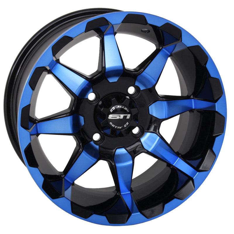 Sti Hd6 Radiant Blue 14 Inch Atv Wheels