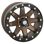 STI HD9 CompLock 5+2 Offset Beadlock ATV Wheels, 14 inch Bronze