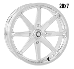 STI HD10 20 Inch Chrome Wheels (with optional mounted tires)