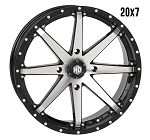 STI HD10 20 Inch Wheels, Gloss Black Machined (with optional mounted tires)