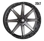 STI HD10 20 Inch Wheels, Matte Black Smoke (with optional mounted tires)