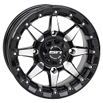 STI HD5 Beadlock Wheels, 14 Inch Gloss Black/Machined