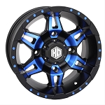 STI HD7 Wheels, 14 Inch Matte Black & Radiant Blue