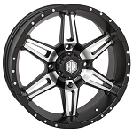 STI HD7 Wheels, 18 Inch Matte Black Machined (with optional mounted tires)