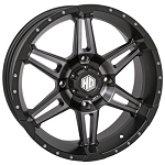 STI HD7 Wheels, 18 Inch Matte Black Smoked (with optional mounted tires)