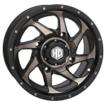 STI HD8 ATV / UTV Wheels, 14 Inch Matte Black / Dark Grey