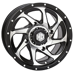 STI HD8 ATV / UTV Wheels, 14 Inch Matte Black Machined