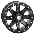 STI HD9 CompLock 4+3 Offset Beadlock Wheels, 14 inch Matte Black