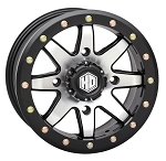 STI HD9 CompLock 5+2 Offset Beadlock Wheels, 15 inch Machined (with optional mounted tires)