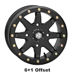 STI HD9 CompLock 6+1 Offset Beadlock Wheels, 14 inch Matte Black