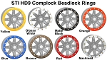 14 Inch Replacement Beadlock Rings for STI HD9 Complock Wheels