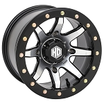 STI HD9 Wide CompLock Beadlock Wheels 14x8 & 14x10, Matte Black Machined
