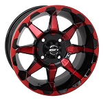 STI HD6 ATV Wheels, 14 Inch Radiant Red